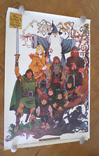 1978 NEW Vintage The Lord of the Rings Cartoon Movie Poster Fellowship Tolkien