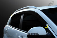 Smoke Tinted Weather shields 4pcs for 2011 -2017 Ssangyong Korando