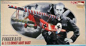 DML   Fokker D.VII & 1/12 Ernst Udet bust   1:48