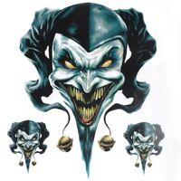Clown Sticker Aufkleber Motorrad Auto creepy Decal Styling Narr Zombie Zauberer