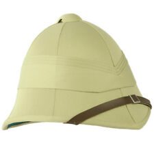 Military Style Classic British Army Tropical Pith Helmet Unbadged Replica Khaki