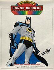 TOM COOK Batman ORIGINAL ART Bruce Timm STYLE Color Commission 8.5 x 11 SIGNED