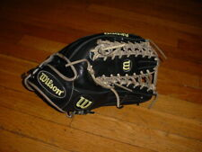 "Wilson A2000 OT6 12.75"" OUTFIELD BASEBALL GLOVE SuperSkin Black/Gray/volt"