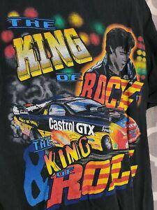 vintage JOHN FORCE RACING T SHIRT - Large (The King) Drag Racing NHRA/Funnycar