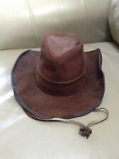 Pre Owned Winfield Cover Co Vintage Brown Suede Leather Cowboy Hat Sz Small