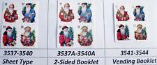 Victorian Santa Complete Set 3 Blocks of 4 in Scott Order MNH Sc 3537 to 3544