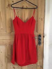 Mango Dress XS Red Backless