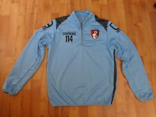 CLASSIC AFC BOURNEMOUTH CARBRINI FOOTBALL TRAINING 1/4 ZIP TOP JACKET MENS M