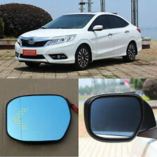 Rearview Mirror Blue Glasses LED Turn Signal with Power Heating For Honda Crider