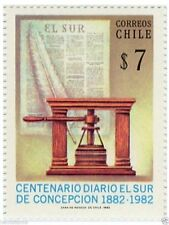 Chile 1982 #1043 Centenario Diario El Sur de Concepcion MNH