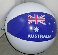 """Extrem seltener blau/weißer WASSERBALL """"Australia"""", 38cm / 15"""" flach"""