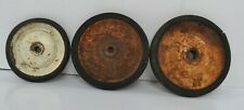Vintage Steel Toy Wheels With Tires - coaster - tricycle - scooter - stroller