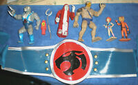 ( THUNDERCATS ) MIX LOT OF VINTAGE ITEMS 1985 INCLUDING RUBBER COSTUME BELT