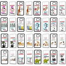 Crazy Lady Woman Animal Cute Funny Phone Case Cover For Samsung Galaxy Models