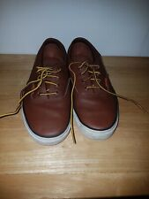 Vans Era Lux Leather Mens Trainers Brown/White Us Size 6 mens  uk size 5.5