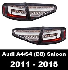AUDI A4 B8 11-15 SALOON LED BLACK REAR TAIL LIGHTS DYNAMIC SWEEPING INDICATORS