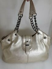 Kenneth Cole New York Genuine Leather Gold Shoulder Chain Bag Authentic