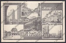 BRESCIA CITTÀ 108 SALUTI a Grande Velocità TRENO - VEDUTINE Cartolina