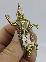 1940's/50's Thai Dancer Enamel Brooch - Thailand Vintage Costume Jewellery
