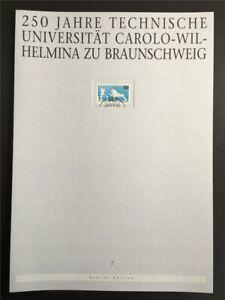 GERMANY ART-EDITION 1995/07 1783 TU BRAUNSCHWEIG UNI LÖWE DRAFTS!!