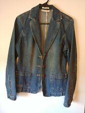 Crazy Horse Denim Jacket, Blazer, Liz Claiborne, Size M, #542