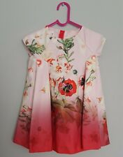 💕 Poppy Ted Baker Girls Special Occassion Pink Floral Dress Age 9 to 12 Months