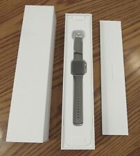 NIB A1757 Apple Watch Series 2 38mm case Silver Woven Nylon Pearl band MNNX2LL/A