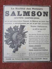 1926-27 PUB MOTEURS SALMSON CANTON-UNNE MOTEUR AVIATION CM 18 ENGINE ORIGINAL AD