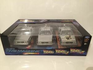Back to the Future Trilogy Set Welly 224003 NEW 1:24 Scale