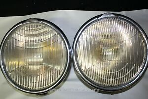 1930-31 Packard Std. 8 Headlight Asy. - PAIR!!! w/ Bezel, Reflector and Bulbs!