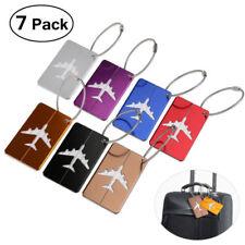 7x Aluminium Luggage Tags Suitcase Label Name Address ID Baggage Bag Tag Travel