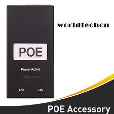 Desktop POE Injector 10/100Mbps Power Supply Input 100V-240V 48W Output 48V 1A