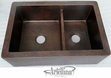 Ariellina Farmhouse 14 Gauge Copper Kitchen Sink Lifetime Warranty New AC1823