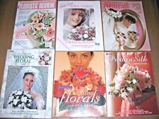 Lot 6 Books Wedding Floral to make Fans Pillows Headpieces Baskets Boutonniers
