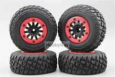 4pcs RC 1/10 Bead Lock Short Course Tire Tyre Set 12mm hex 1/2 offset 30005