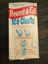 "Vintage ""Prevent a Fall� Brand Ice Cleats New in Box"
