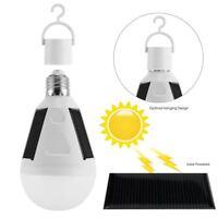 7W E27 Tent Camping LED Solar Light Bulb Fishing Solar Lamp Rechargeable