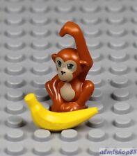 LEGO - Monkey Orangutan w/ Banana - Animal Zoo Baby Tarzan Jungle Minifigure