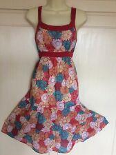 Vestido De Verano BHS Algodón Floral Tamaño 10
