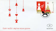 Bosnia & Herzegovia 2017 FDC Christmas & New Year 2v Cover Angels Trees Stamps