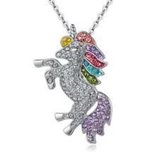 Unicorn Pendant Necklace Rainbow Girls Horse Pendant