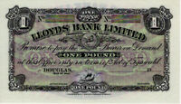 Isle of Man £1 Pound Banknote Lloyds Bank Limited P13r UNC RARE