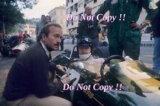 Graham Hill & Colin Chapman Lotus 33 Monaco Grand Prix 1967 Photograph