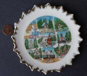 1960s Era Jefferson,New Hampshire Santa's Village Christmas Park souvenir plate*