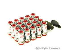 JDM VOLK RAYS FORMULA WHEELS LOCK LUG NUTS 12X1.25 1.25 ACORN RIM CLOSED RED