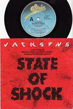 "JACKSONS (MICK JAGGER) - STATE OF SHOCK Very rare 1984 Aussie 7"" P/S Single! EX+"