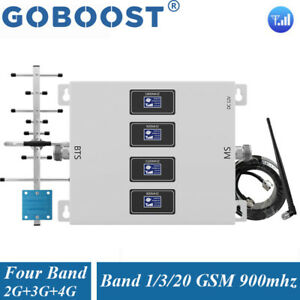800 900 1800 2100MHZ Amplificateur Cellulaire GSM Repeater 2/3/4G Antenne Kit