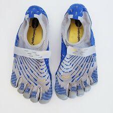 Mens SZ 8 Running Vibram Fivefingers Bikila  Blue Yellow Gray Barefoot Shoes