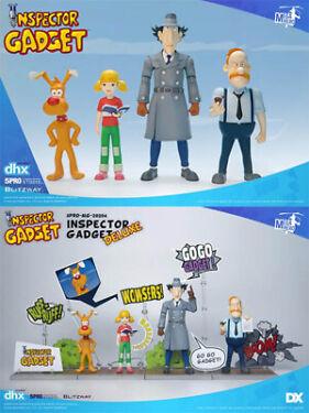 Blitzway Inspector Gadget 5Pro MegaHero Series Deluxe Figure Set New In Stock