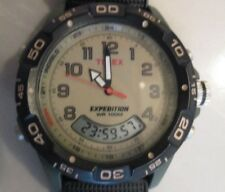 Timex T45181 men's Expedition black forest green olive watch band small LCD